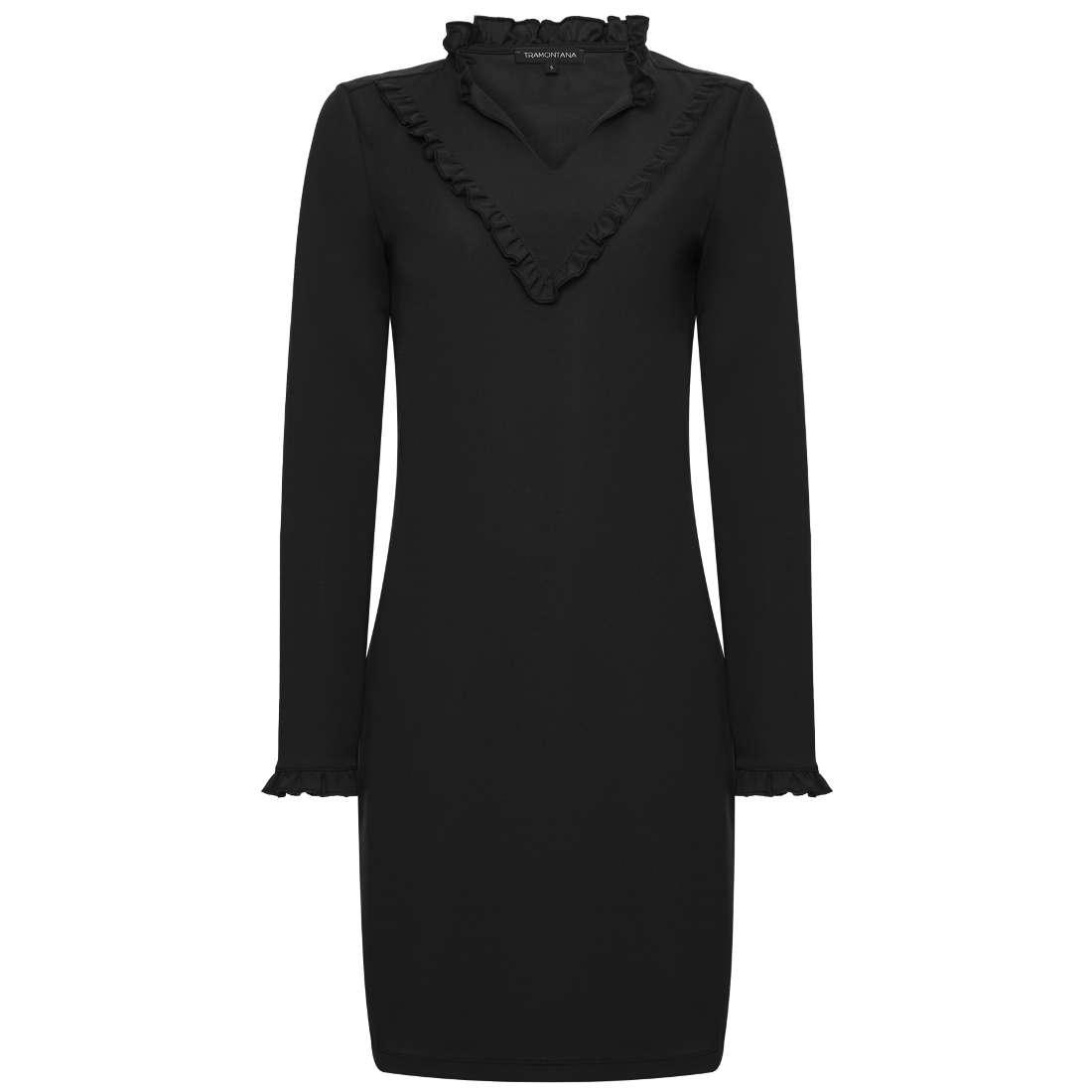 Tramontana jurk r02-89-502 in het Zwart