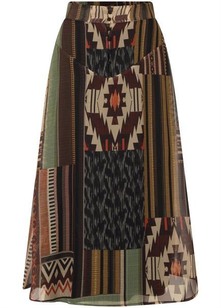 Tramontana midi rok c05-01-201 in het Multicolor