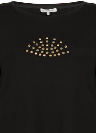Tramontana t-shirts C19-98-402 in het Zwart
