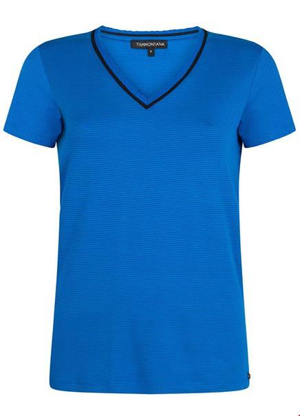 Tramontana t-shirts d28-93-401 in het Kobalt