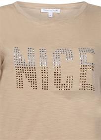 Tramontana t-shirts I01-98-401 in het Beige