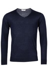 v-hals trui Tailored Fit 1081TM100 in het Donker Blauw
