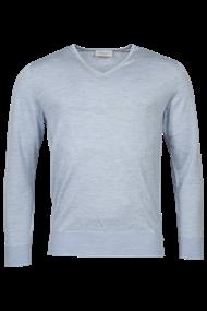 v-hals trui Tailored Fit 1081TM100 in het Licht Blauw
