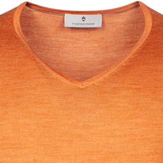 v-hals trui Tailored Fit 1081TM100 in het Oranje