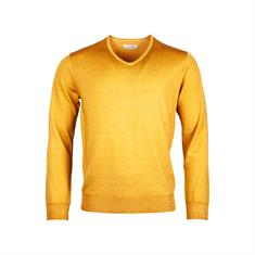 v-hals trui Tailored Fit 9281tm500 in het Oker