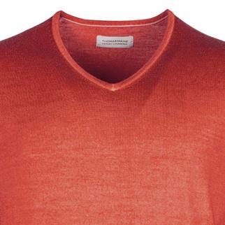 v-hals trui Tailored Fit 9281tm500 in het Roest