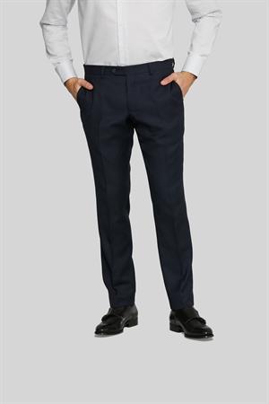 Van Gils business pantalon Tailored Fit 1420VG00107 in het Donker Blauw