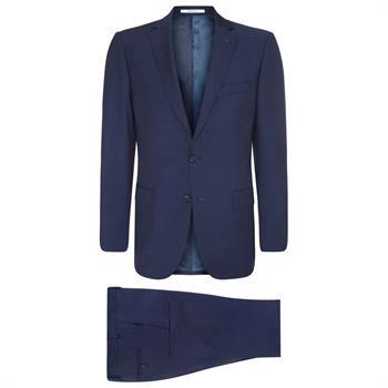 Van Gils kostuum Tailored Fit w08251 in het Donker Blauw