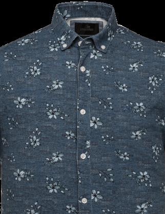 Vanguard jersey overhemd Tailored Fit VSIS213251 in het Indigo