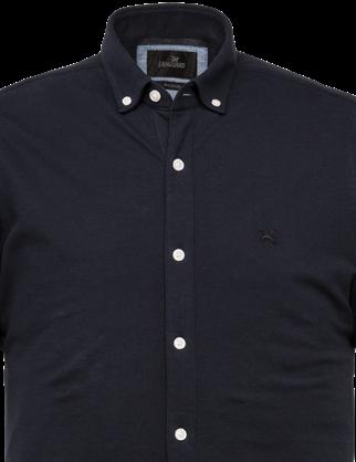 Vanguard jersey overhemd Tailored Fit VSIS213256 in het Marine