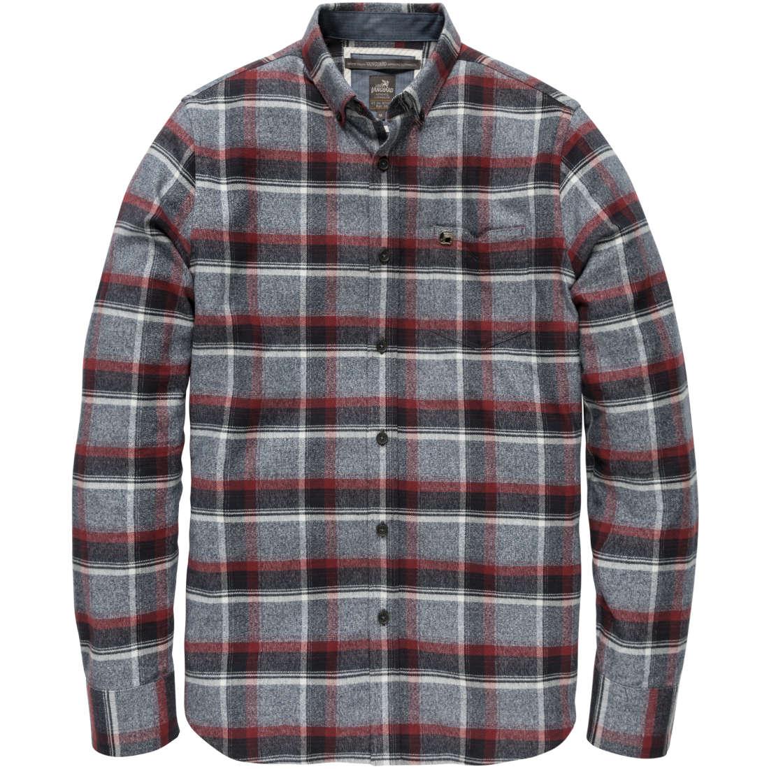 Vanguard overhemd vsi186492 in het Donker Rood