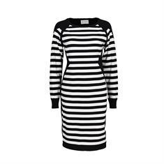 Via Appia jurk 959441 in het Zwart / Wit
