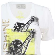 Via Appia t-shirts 729-293 in het Wit/Geel