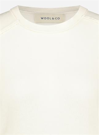 Wool & Co ronde hals trui WO-0205 in het Offwhite