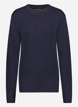 Wool & Co trui WO8130PL in het Donker Blauw