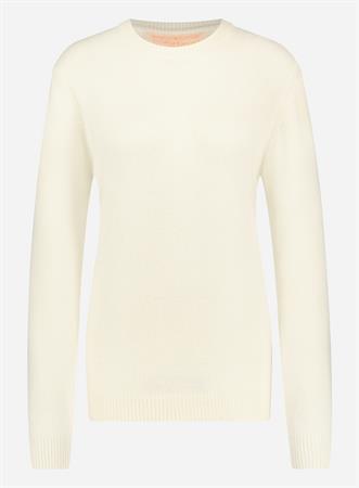 Wool & Co trui WO8130PL in het Offwhite